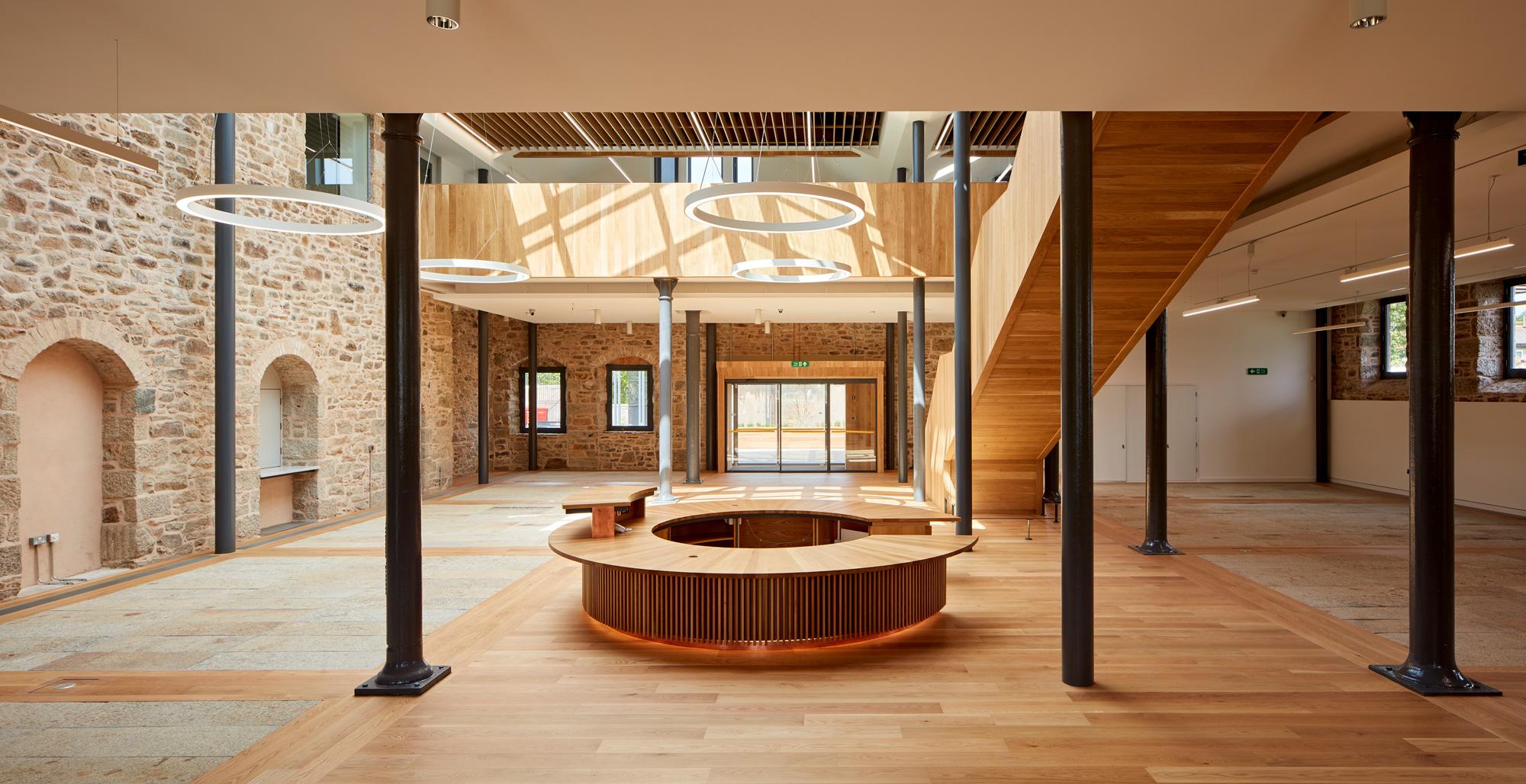 Engineered wood flooring installation at Kresen Kernow